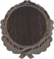 Eurohunt Keilerschild geschnitzt 16cm (Eiche dunkel)