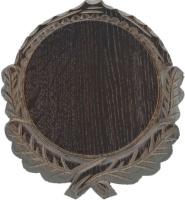 Eurohunt Keilerschild geschnitzt 14 cm (Eiche dunkel)