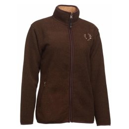 Chevalier Mainstone Fleece Cardigan brown Damen