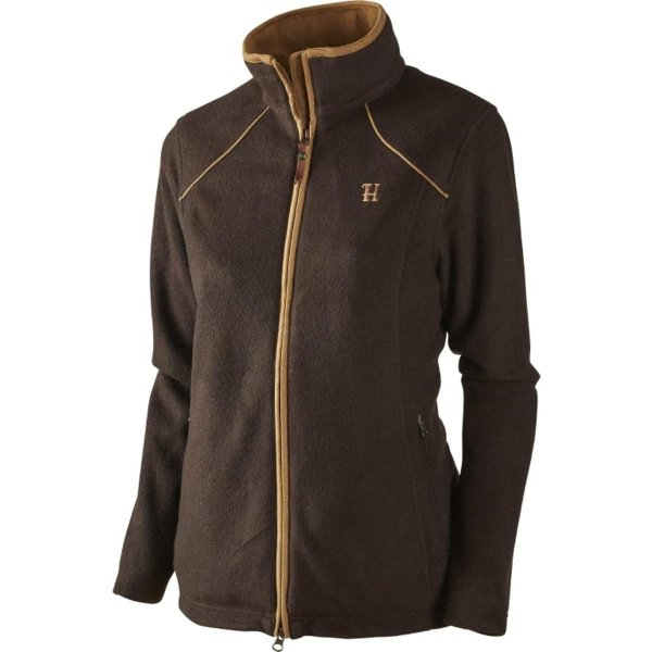 Härkila Sandhem Fleece Jacke Damen dark port melange