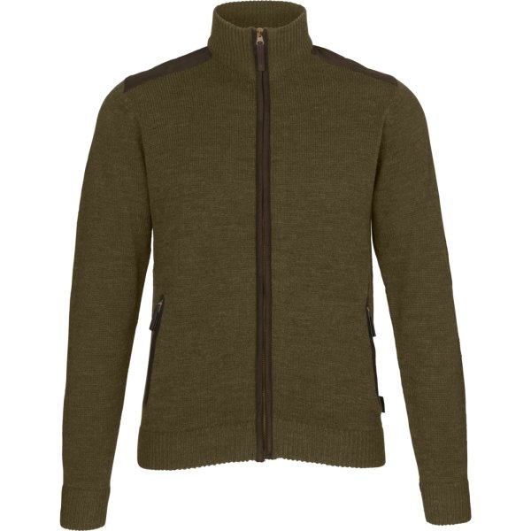 Seeland Buckthorn Strickjacke shaded olive melange Herren