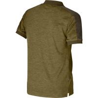 Härkila Tech Polo Shirt dark olive/willow grün Herren