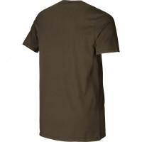 Härkila Graphic T-Shirt 2-Pack green/brown Herren