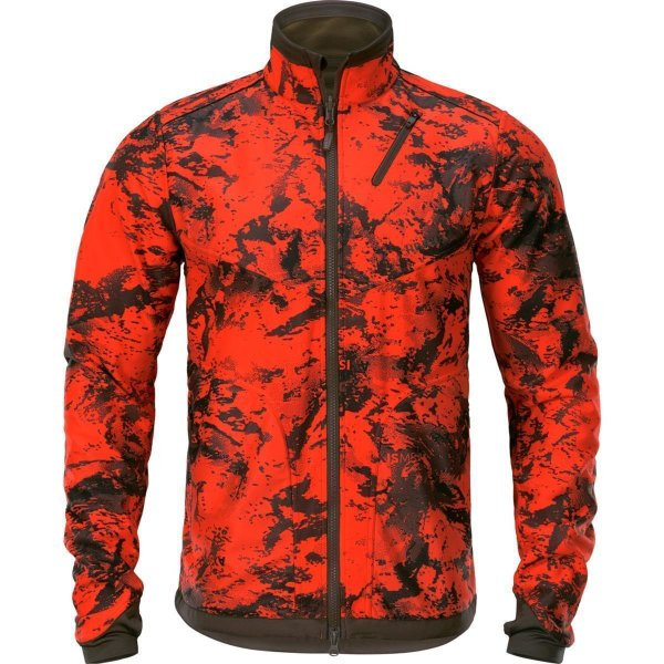 Härkila Wildboar Pro reversible Fleecejacke orange/grün...