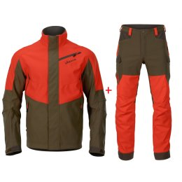 Härkila Wildboar Pro Set orange/grün Herren
