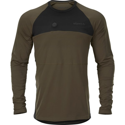 Härkila beheizbares Unterhemd grün/schwarz unisex