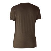 Deerhunter T-Shirt Basic O-Neck 2-Pack braun / grau Damen