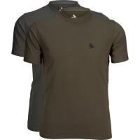 Seeland Outdoor T-Shirt  2 Pack pine green / raven Herren
