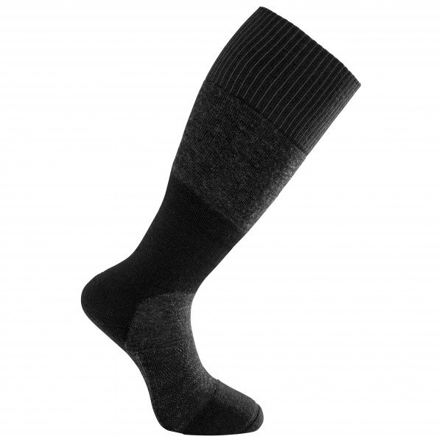 Woolpower Skilled 400 Socken Kniestrumpf anthrazit/schwarz unisex